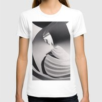 Paper Sculpture #6 Womens Fitted Tee White SMALL
