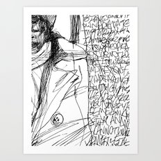 Line and Words - 2 Art Print
