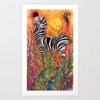 Color Stripes Art Print