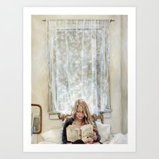 Morning Read Art Print