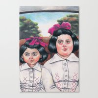 Ela and Bella. Canvas Print