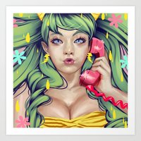 LUM NO LOVE SONG Art Print
