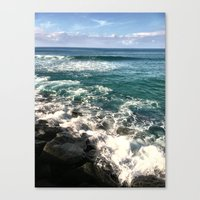 Canvas Print featuring BLUE SEAS by atwice