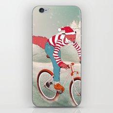 rushing home for christmas iPhone & iPod Skin