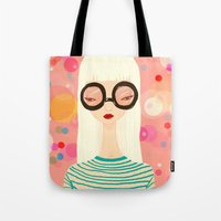 Girl With Big Glasses (I… Tote Bag