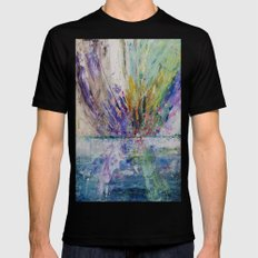 Live life to the fullest - abstract painting Mens Fitted Tee Black SMALL