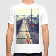 On a Journey SMALL White Mens Fitted Tee
