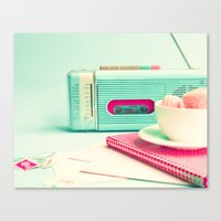 Radio and Tape Stories  Canvas Print