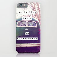 iPhone & iPod Case featuring oh darling, let's be adventurers by Beverly LeFevre