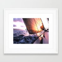 Framed Art Print featuring The Voyage by dTydlacka