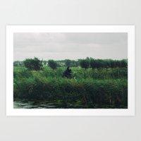WIND BIKE WATER RAIN Art Print