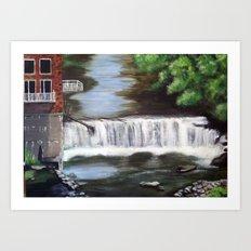 River Falls Art Print