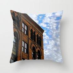 Corner of Main St. & Sky Throw Pillow