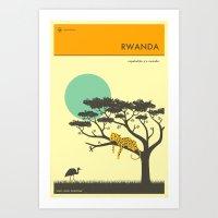 VISIT RWANDA Art Print