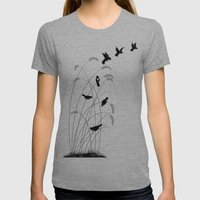 Birds Womens Fitted Tee Athletic Grey SMALL