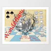 alice in wonderland Art Prints featuring Wonderland by TooShai Studios