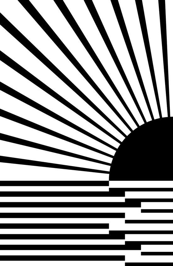 Black rays Art Print