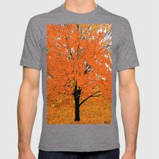 Trees  Mens Fitted Tee Tri-Grey SMALL
