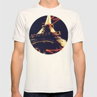 The Eiffel Tower Mens Fitted Tee Natural SMALL