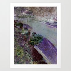 At the river Art Print
