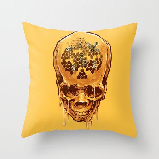 skull of honey Throw Pillow