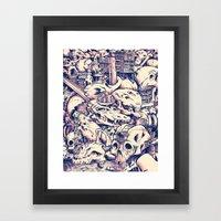 Skull Settlements Framed Art Print