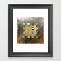SQUARE AMBIENCE - Blue-g… Framed Art Print
