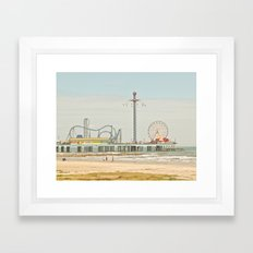 Pleasure Pier Galveston Fun Framed Art Print