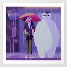 My Neighbor Baymax Art Print