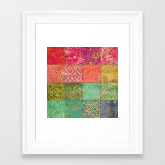 Royal Patchwork Framed Art Print