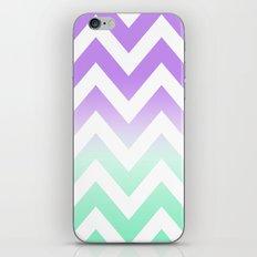 GREEN & PURPLE CHEVRON FADE iPhone & iPod Skin
