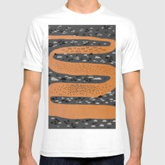 river SMALL White Mens Fitted Tee