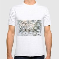 Will you be my bridesmaid? (Bouquet background) Mens Fitted Tee Ash Grey SMALL