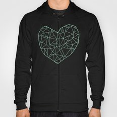 Abstract Heart Mint Hoody