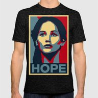 Hunger Games - Hope Mens Fitted Tee Tri-Black SMALL