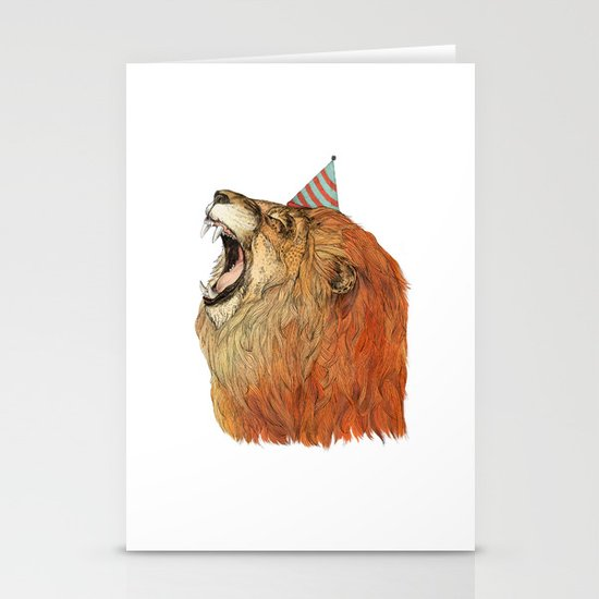 Birthday Lion Stationery Card
