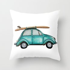 Turquoise Summer Time VW… Throw Pillow