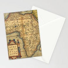 Old map of Africa Stationery Cards