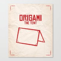 Origami: The Tent Canvas Print