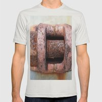 RUST Mens Fitted Tee Silver SMALL