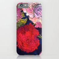 iPhone Cases featuring You Promised Me Roses by Marcella Wylie