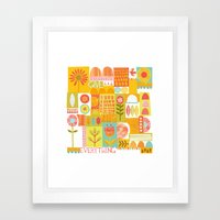 Give Life Everything Framed Art Print