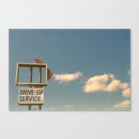 Drive Up Canvas Print