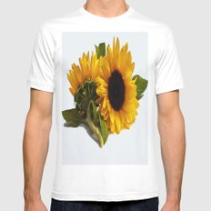 Sunflower White Mens Fitted Tee SMALL