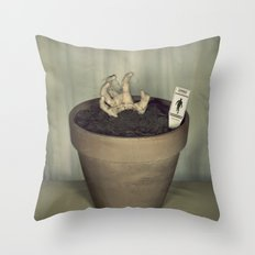 Zombie Plant Throw Pillow