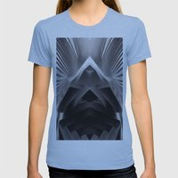 Paper Sculpture #7 Womens Fitted Tee Athletic Blue SMALL