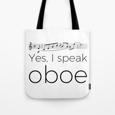 I speak oboe Tote Bag