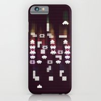 iPhone & iPod Case featuring War Of The 8-Bit Worlds by Reg Lapid