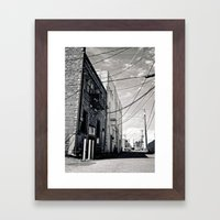 Grit city alley Framed Art Print