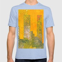 Yellow City Mens Fitted Tee Tri-Blue SMALL
